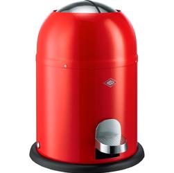 Mały kosz na śmieci czerwony, pedałowy 9 Litrów Single Master Wesco 180212-02