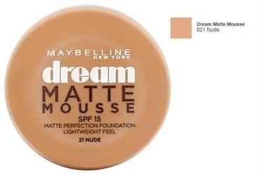 Maybelline dream matte mousse spf 15 kosmetyki damskie - podkład o konsystencji musu 21 nude 18ml