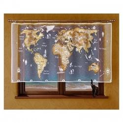 Firanka mapa świata 215 x 120 cm