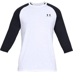 Koszulka męska under armour sportstyle left chest 34 tee - biały
