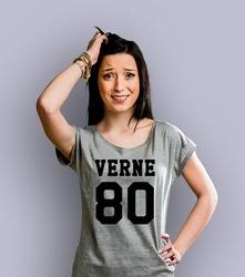 Verne 80 t-shirt damski jasny melanż xxl