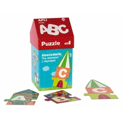 Puzzle w kartonowym domku apli kids - litery