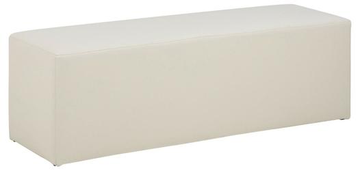 Pufa condo biała l skóra - biały
