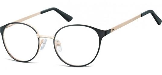 Oprawki okularowe kocie oczy damskie stalowe sunoptic 941a czarno-złote