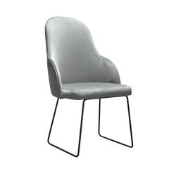 Nowoczesne krzesło tapicerowane leona u na metalowych nogach