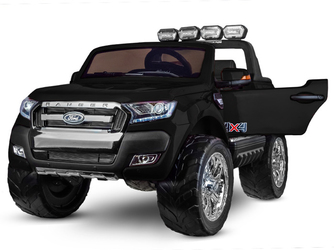 Ford Ranger 4x4 Czarny dwuosobowy samochód na akumulator