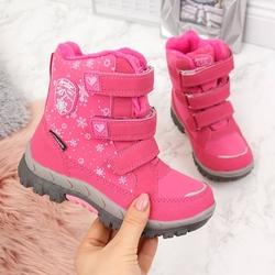 Śniegowce wodoodporne dziewczęce różowe american club - różowy