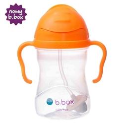 Bidon ze słomką 240 ml, pomarańczowy, b.box - pomarańczowy