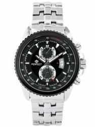 Męski zegarek PERFECT BOXSTER zp125a - silverblack