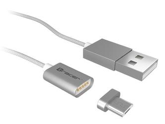 Tracer Kabel magnetyczny USB 2.0 AM micro 1,0m srebrny