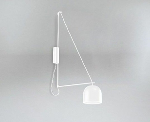 Shilo :: Lampa ścienna KABE Semicircular biała - biały