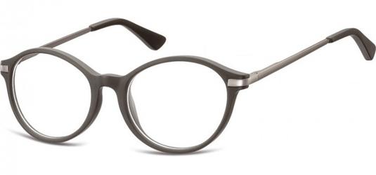 Okulary dziecięce zerówki okrągłe lenonki ak46f szary