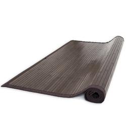 Dywan bambusowy, mata bambusowa 160 x 230 cm, ciemny brąz