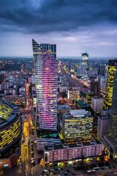Warszawa Złota - plakat premium Wymiar do wyboru: 70x100 cm