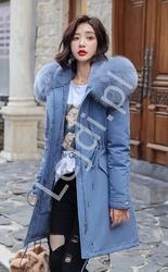 Niebieska zimowa kurtka plus size 1840