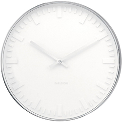 Zegar ścienny Mr. White Station Karlsson KA4384