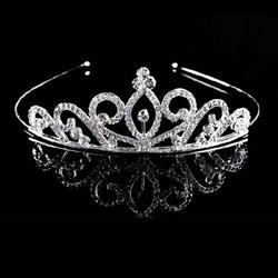 OPASKA do włosów ŚLUBNA srebrna DIADEM kryształki