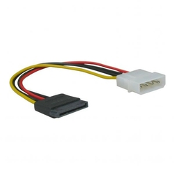Kabel do dysku twardego napájecí, DC SATA M- DC 5,25quot M, 0.2m, color