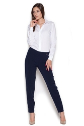 Biała klasyczna koszula - body z długim rękawem