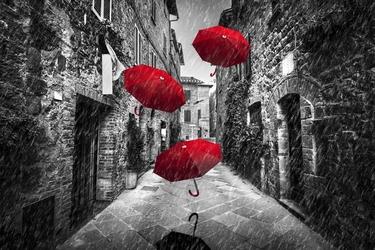 Parasolki - plakat wymiar do wyboru: 84,1x59,4 cm