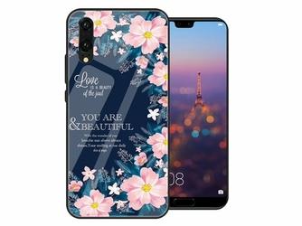 Etui Alogy Glass Armor Case do Huawei P20 Kwiaty + Szkło Alogy - Kwiaty