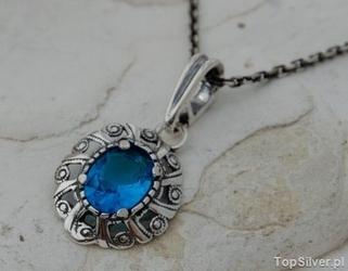 Alis - srebrny wisiorek z akwamarynem