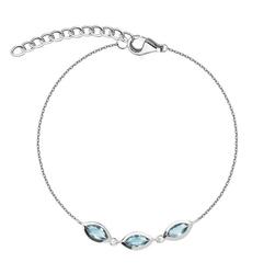 Staviori bransoleta 19cm. szkło. srebro rodowane 0,925.  długość regulowana dowolnie.