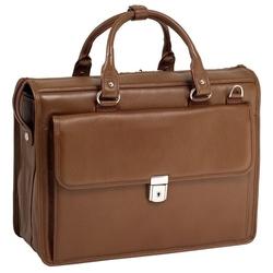 Teczka skórzana męska na laptopa 15,4 mcklein gresham 15974 brązowa - brązowy