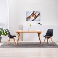Vidaxl krzesła stołowe, 2 szt., ciemnoszare, tkanina