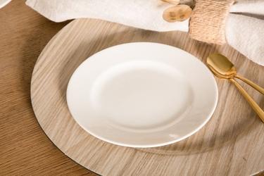 Talerz deserowy porcelana mariapaula ecru 17 cm
