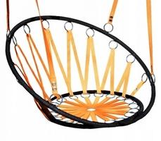 Huśtawka krzesło bujak wiszący - bocianie gniazdo pomarańczowe