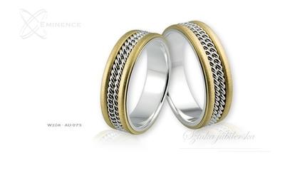 Obrączki ślubne - wzór au-073