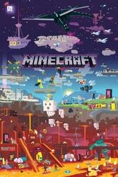 Minecraft World Beyond - plakat z gry