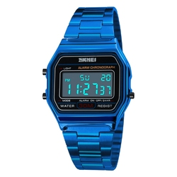 Zegarek SKMEI 1123 LED bransoleta RETRO blue - BLUE