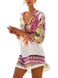 Pareo tunika sukienka boho chain plażowa różowa