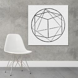 Art form geometry - designerski obraz na płótnie , wymiary - 80cm x 80cm