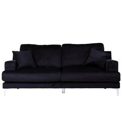 Nowoczesna kanapa trzyosobowa enys czarna welur