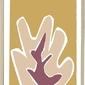 Plakat z ramą bloomingville 45 x 65 cm żółto-różowy