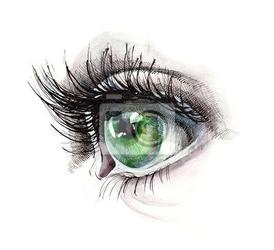 Naklejka zielone oko