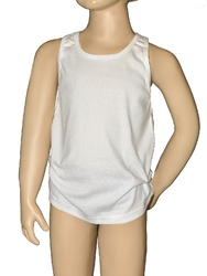 Koszulka gucio ramiączko 98-122 rozmiar: 116, kolor: biały, gucio