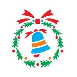 Szablon świąteczny 12x15 cm - dzwonek - 32