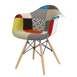 Nowoczesny fotel kr012f patchwork 2 buk