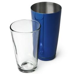 shaker bostoński niebieski kubek + szklanica outlet