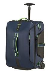 Torba z funkcja plecaka na kółkach samsonite paradiver light 55 cm night bluefluo green - granatowy