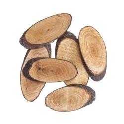 Plastry drewna owalne 5-8 cm 6 szt.