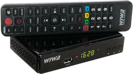Tuner DVB-T WIWA H.265 funkcje internetowe - Szybka dostawa lub możliwość odbioru w 39 miastach