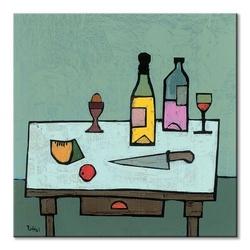 Table top with egg - obraz na płótnie