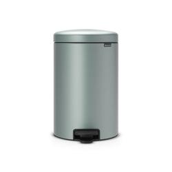 Brabantia - kosz newicon - 20 l - plastikowe wiadro i wolnoopadająca pokrywa - metaliczny miętowy - miętowy