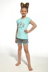 Piżama dziewczęca cornette 24766 kids zebra turkusowy