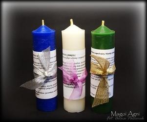 Świeca archanielska - zestaw 3 świec – archanioł michał, rafał, gabriel święto archanielskie